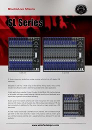 SL Series Brochure - Wharfedale Pro