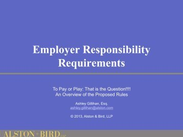 Employer Responsibility Requirements - State Health Plan