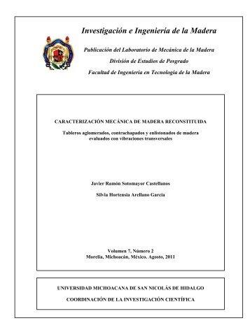 Investigación e Ingeniería de la Madera - Coordinación de la ...