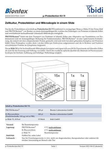 Product Information Sheet - Biontex Laboratories