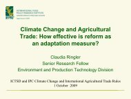 The Role of Trade in Food and Agricultural Products in Climate ...