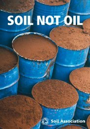 SOIL NOT OIL - Soil Association