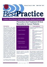 Prevention and treatment of mucositis. - Oral Cancer Foundation
