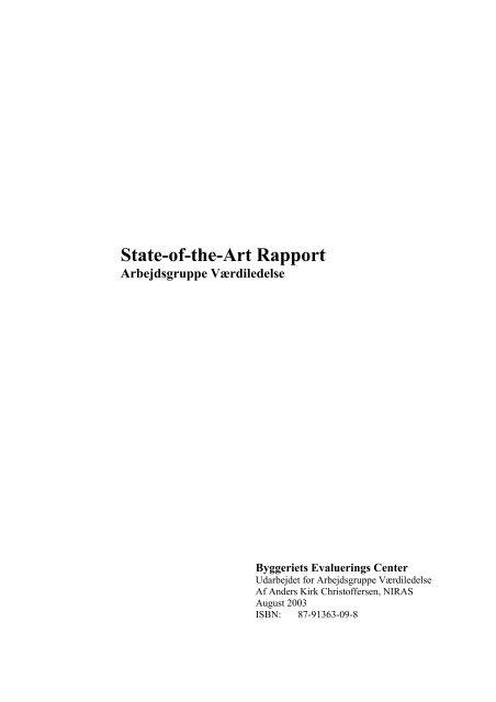 State-of-the-Art rapport fra arbejdsgruppe Værdiledelse - Byggeriets ...
