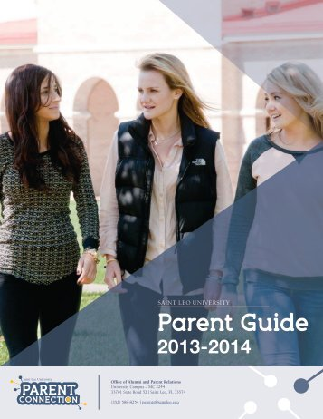 Download PDF Copy of Parent Guide - Saint Leo University