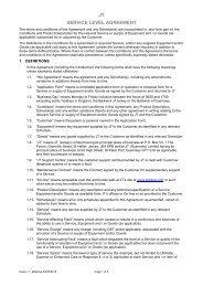 Service Level Agreements - JT