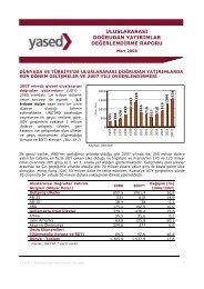 Uluslararası Doğrudan Yatırımlar Raporu: 2007 Yılı Değerlendirmesi