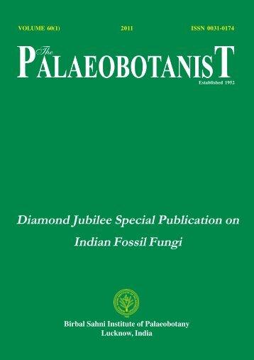 Abstract of Palaeobotanist-60(1) - Birbal Sahni Institute of ...