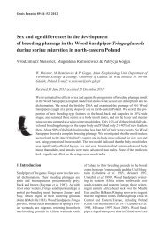 Sex and age differences in the development of breeding plumage in ...