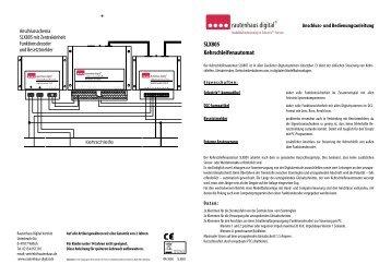 Anleitung zum Kehrschleifenautomat SLX805 - MDVR