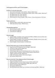 Leistungsverzeichnis Molekulargenetik nach Erkrankung