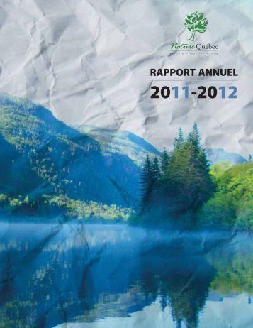 Rapport annuel 2011-2012 - Nature Québec