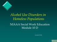 Alcohol Use Disorders in Homeless Populations
