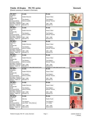 Palette label DK series 45 singles diskografi - danpop.dk
