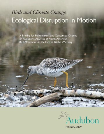Ecological Disruption in Motion - National Audubon Society