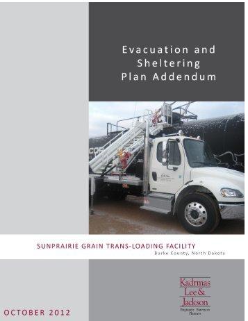 Shelter and Evacuation Plan SunPrairie Grain Trans-Loading Facility