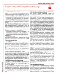 MasterCard Prepaid-/VISA Prepaid-Kundenbedingungen