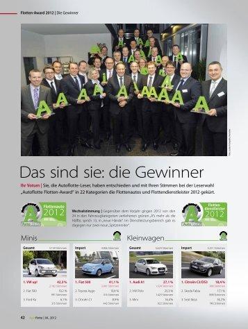 Flotten-Award 2012 - Audi