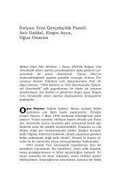 İtalyan Yeni Gerçekçilik Paneli - Mithat Alam Film Merkezi - Boğaziçi ...