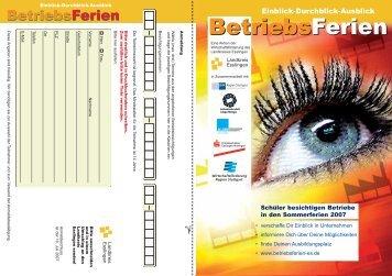 BetriebsFerien BetriebsFerien - Aktion BetriebsFerien