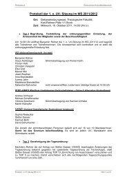 Protokoll der 1. o. UV- Sitzung im WS 2011/2012 - Österreichische ...