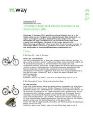 Trendige E-Bikes und schicke Accessoires zu Weihnachten ... - M Way
