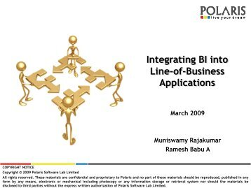 Integrating BI into Line-of-Business Applications