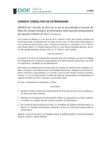 CONSEJO CONSULTIVO DE EXTREMADURA - Diario Oficial de ...