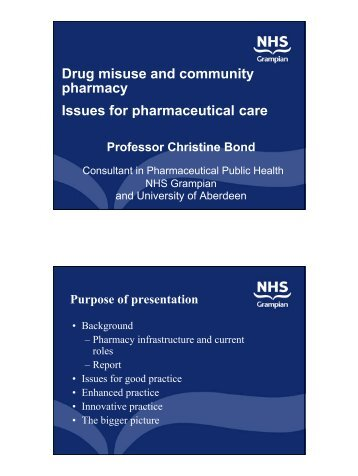 Drug misuse and community pharmacy Issues for pharmaceutical care