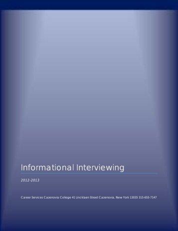 Informational Interviewing - Cazenovia College