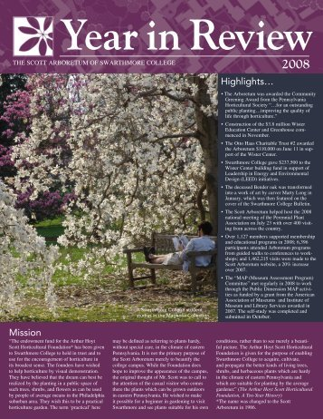 Year in Review - The Scott Arboretum of Swarthmore College