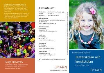 Programmet som utskriftsvänlig version - Falu Kommun