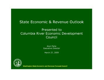Economic & Revenue Forecast Council