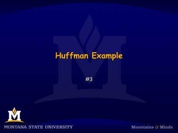 Huffman Example