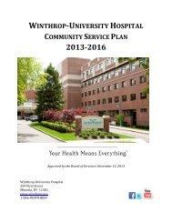 Diabetes Education*Programs - Winthrop University Hospital
