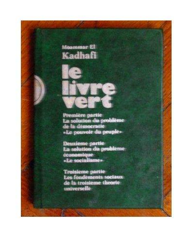 le-livre-vert-de-mouammar-kadhafi