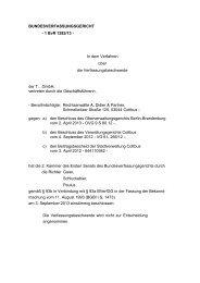 BUNDESVERFASSUNGSGERICHT - 1 BvR 1282/13 - In ... - VDGN
