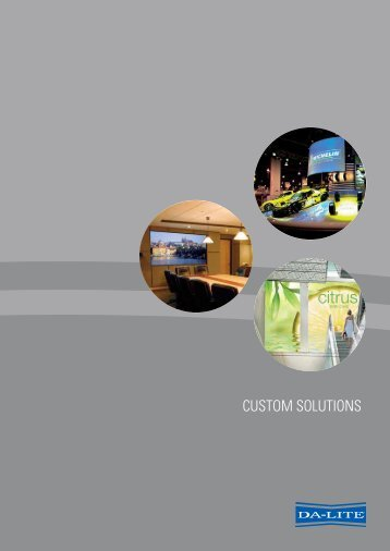 CUSTOM SOLUTIONS - Output