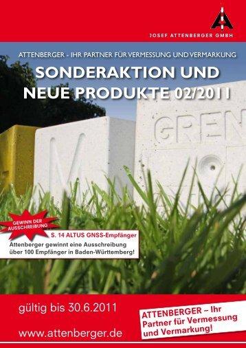 SONDERAKTION UND NEUE PRODUKTE 02/2011