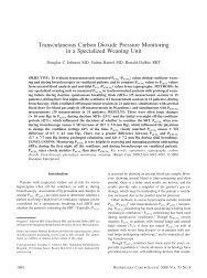 Transcutaneous Carbon Dioxide Pressure Monitoring in a ...
