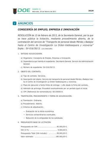 ANUNCIOS - Diario Oficial de Extremadura
