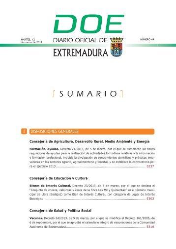 disposiciones generales i - Diario Oficial de Extremadura - Gobierno ...