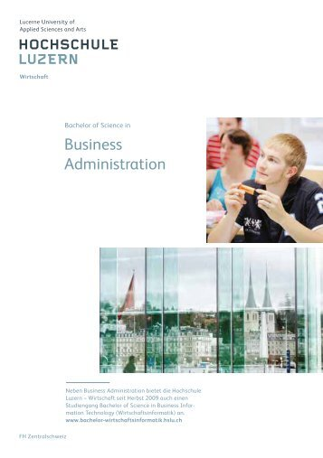 Bachelor of Science in Business Administration - Hochschule Luzern