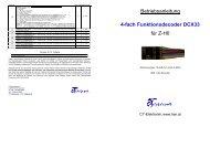Betriebsanleitung 4-fach Funktionsdecoder DCX33 ... - cT Elektronik
