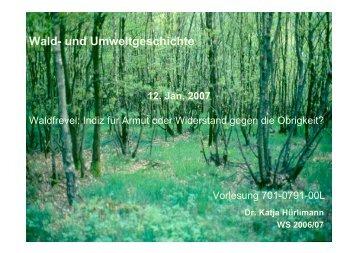 Wald- und Umweltgeschichte - Katja Hürlimann