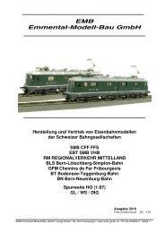 Gesamtprospekt 2010 - EMB  Emmental-Modell-Bau GmbH