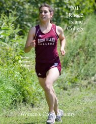 2011 Rhode Island College Women's Cross Country
