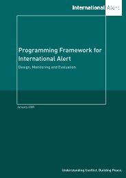 Programming Framework for International Alert