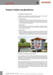 Pompes à chaleur eau glycolée/eau - accubel