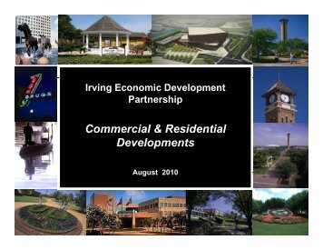 Commercial & Residential Developments - City of Irving, Texas